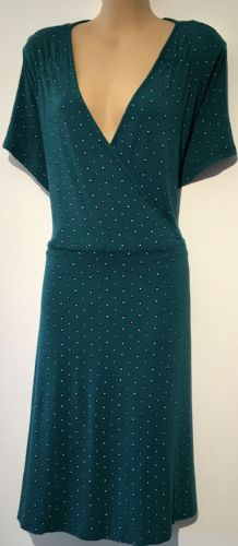 GEORGE GREEN PRINTED JERSEY CROSS OVER DRESS SIZE UK 22